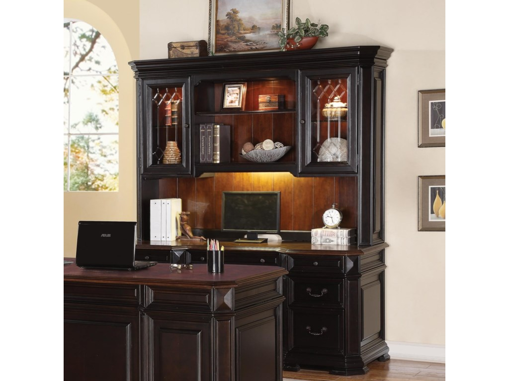 Flexsteel Wynwood Collection Eastchester Traditional Desk And Hutch