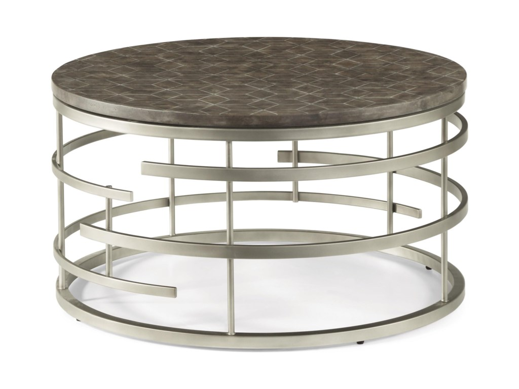 Flexsteel Wynwood Collection HaloRound Cocktail Table