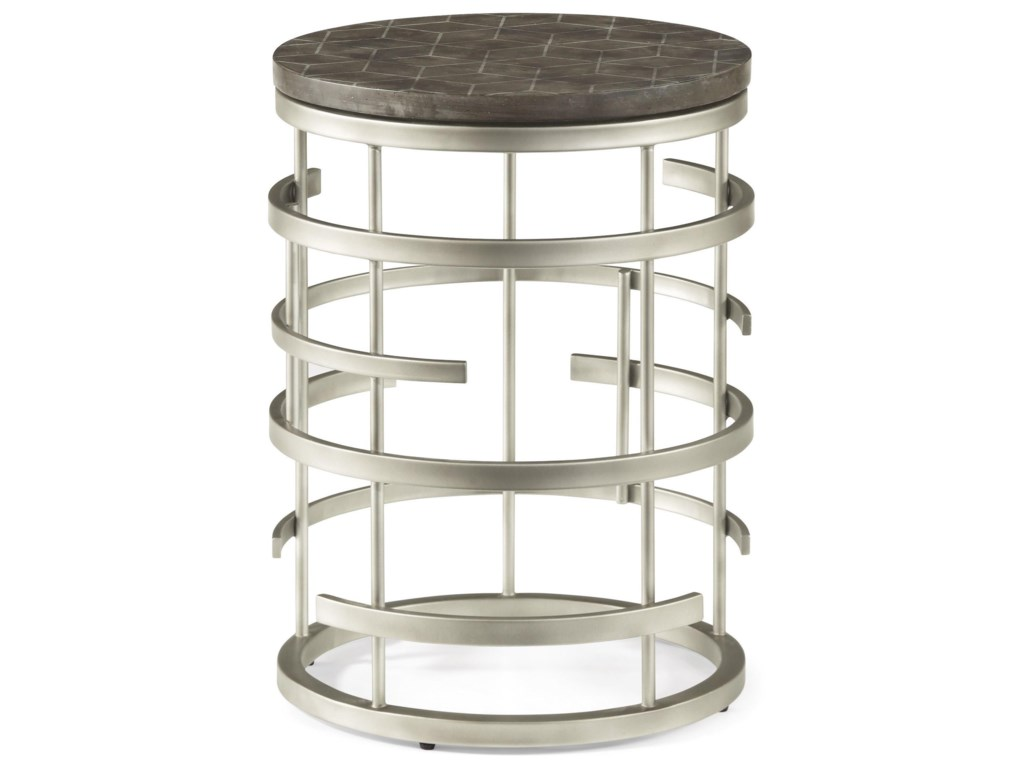 Flexsteel Wynwood Collection HaloChairside Table