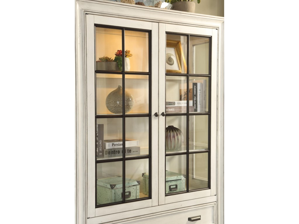 Flexsteel Wynwood Collection HarmonyDisplay Case