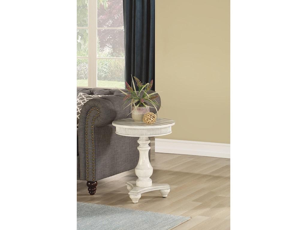 Flexsteel Wynwood Collection HarmonyRound Chairside Table