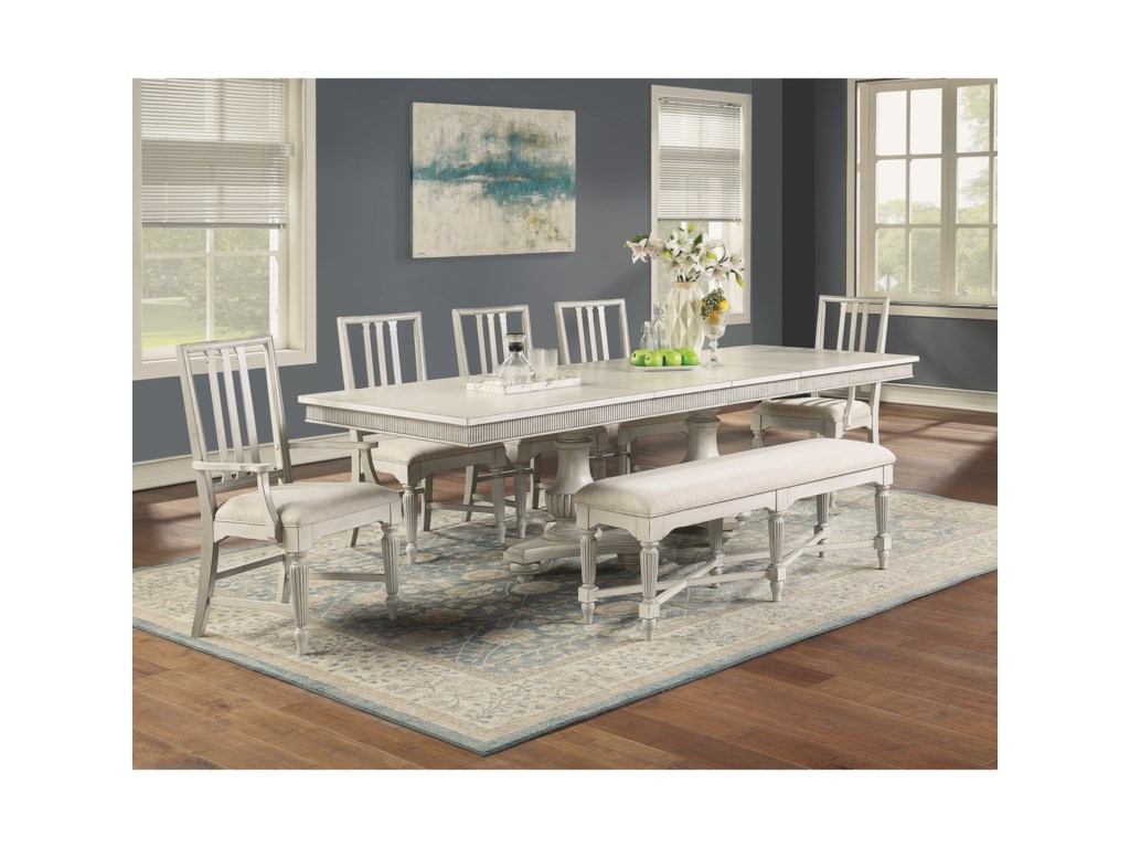 Flexsteel Wynwood Collection Harmony7-Piece Dining Table Set