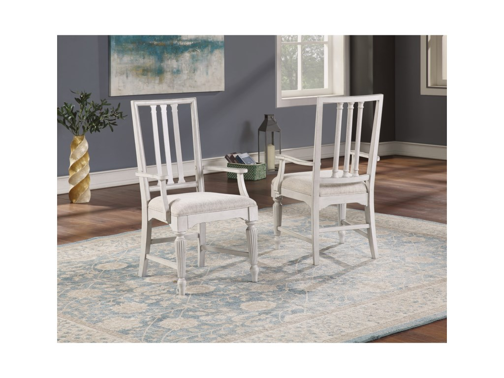 Flexsteel Wynwood Collection HarmonyUpholstered Arm Dining Chair