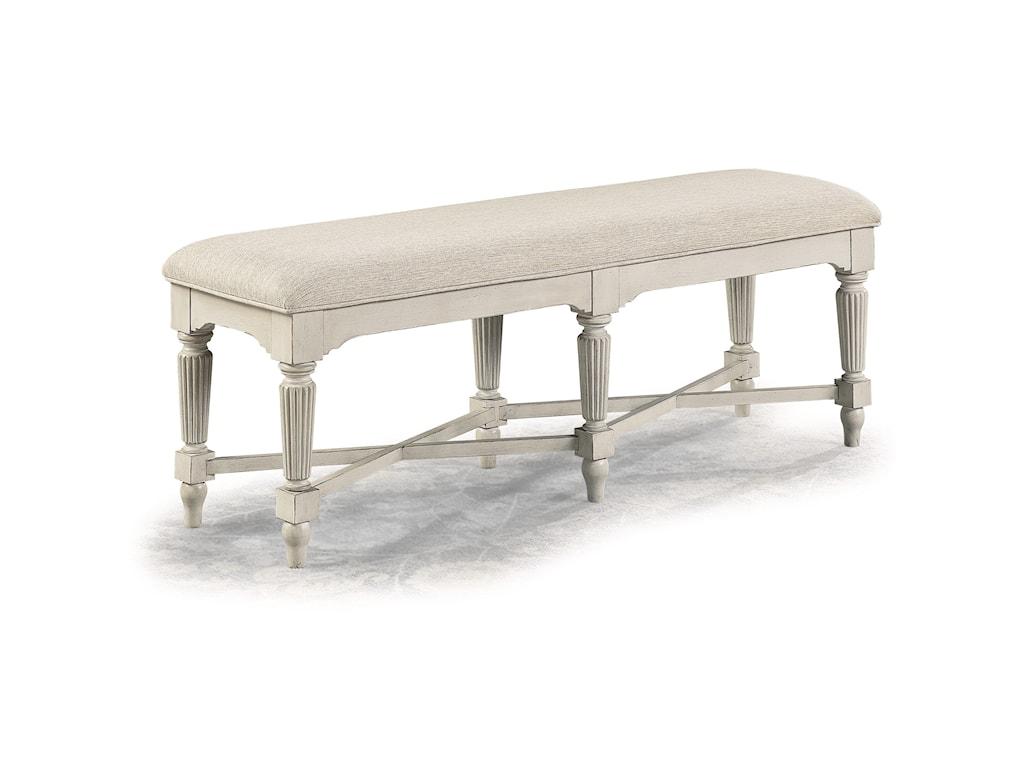 Flexsteel Wynwood Collection HarmonyUpholstered Wood Bench