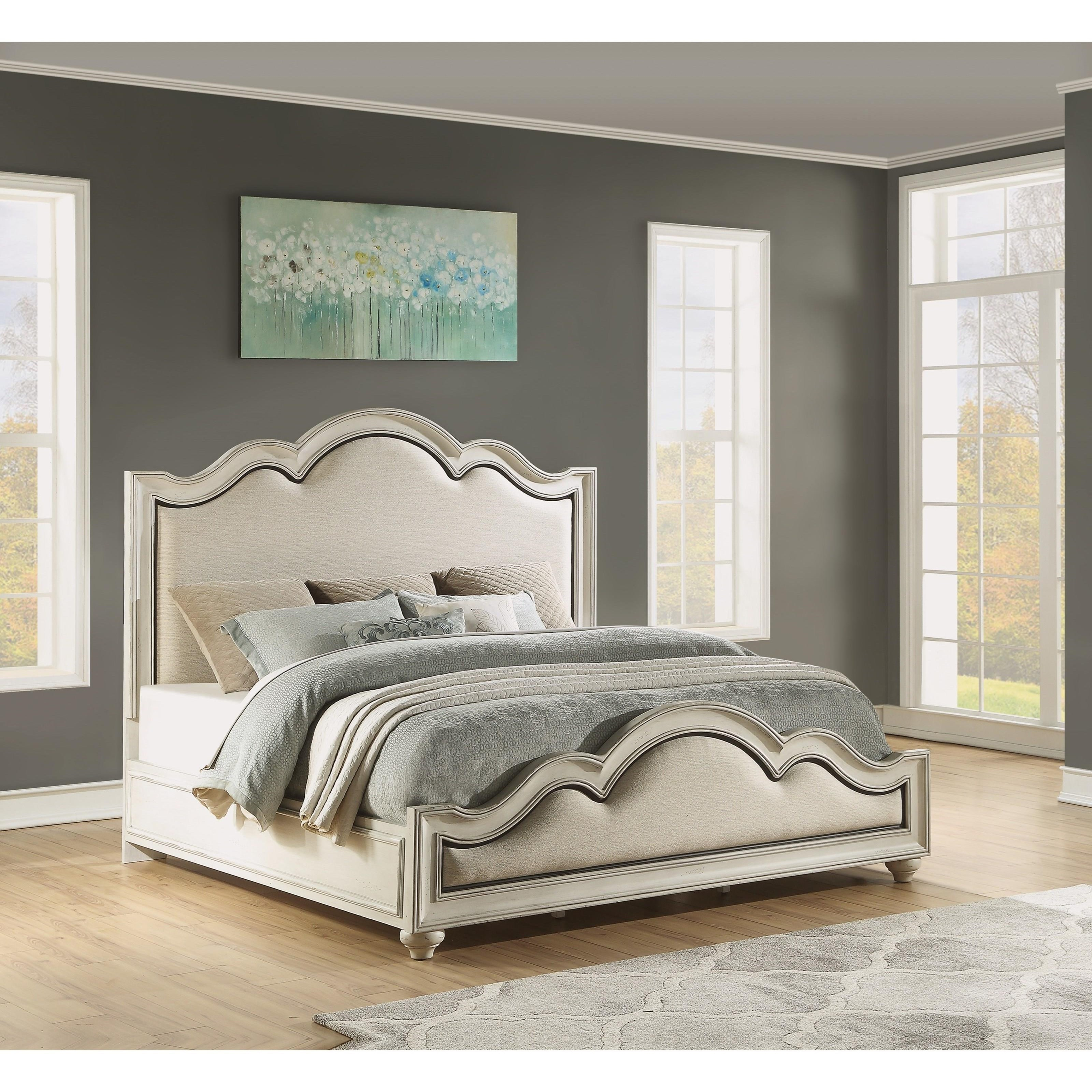 Cottage California King Upholstered Bed