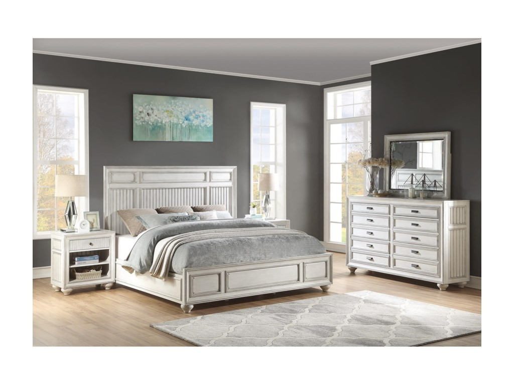 Flexsteel Wynwood Collection HarmonyCalifornia King Panel Bed