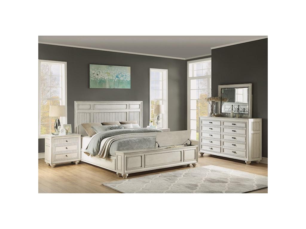 Flexsteel Wynwood Collection HarmonyQueen Panel Storage Bed