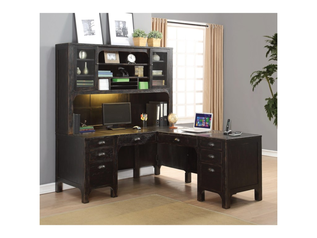 willey hickory office home standing rc view shaped jsp rustic brown l furniture heritage rcwilley desk desks