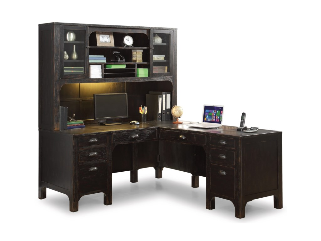 Flexsteel Wynwood Collection HomesteadL-Shaped Desk