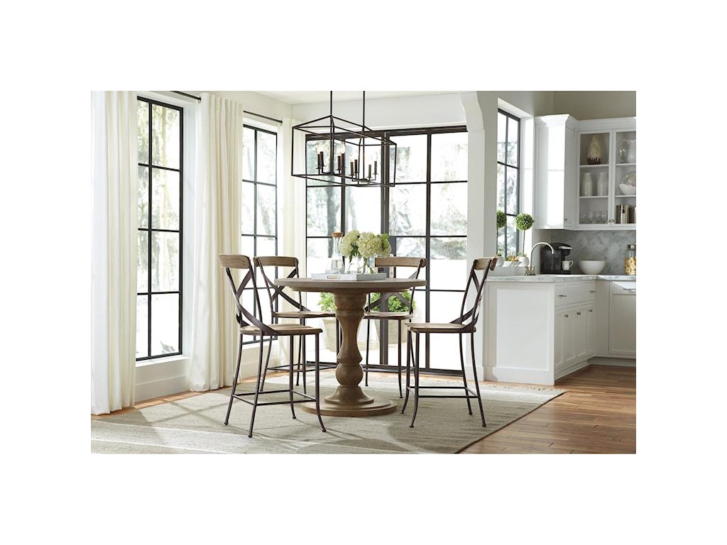 Flexsteel Wynwood Collection KeystoneModern Adjustable Height Table