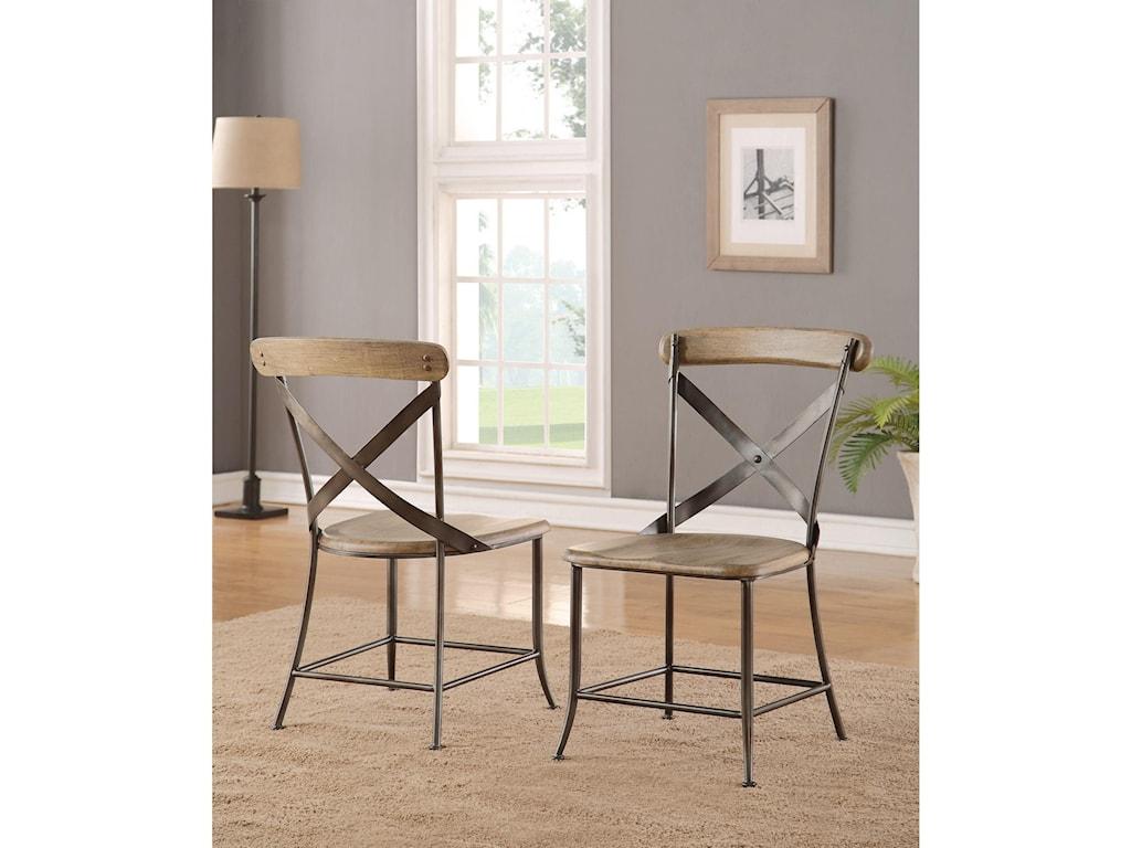 d056e4d728d ... Flexsteel Wynwood Collection KeystoneIndustrial Armless Side Chair ...