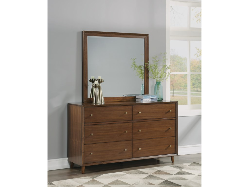 Flexsteel Wynwood Collection LudwigDresser and Mirror Set