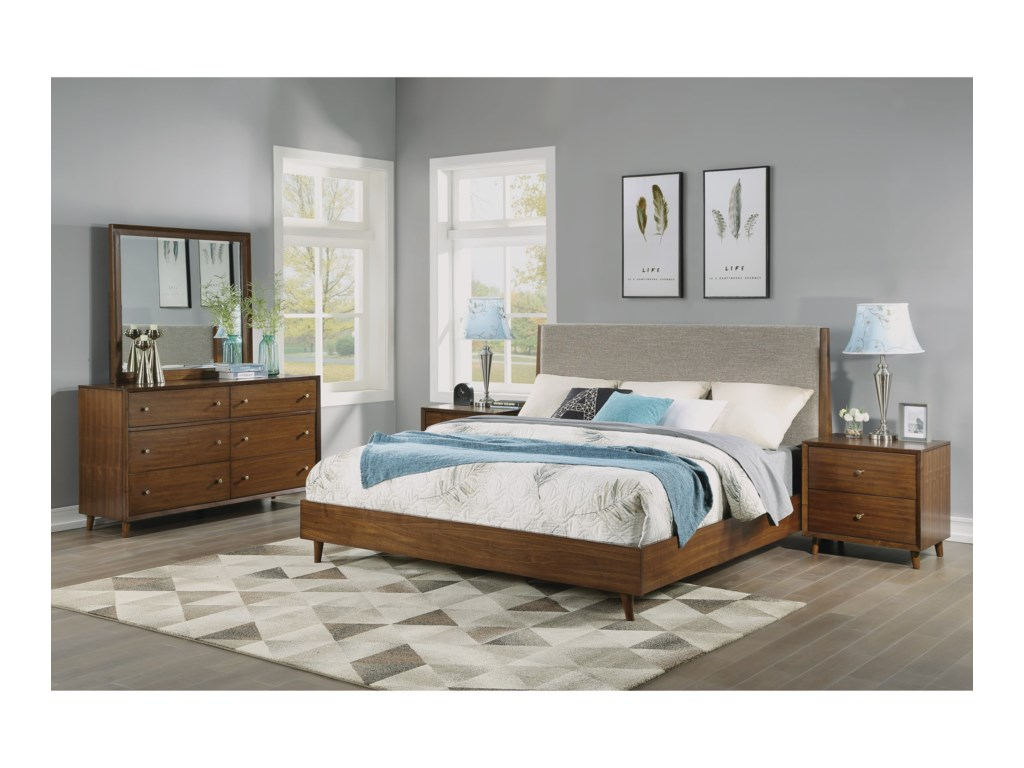Flexsteel Wynwood Collection LudwigQueen Upholstered Bed
