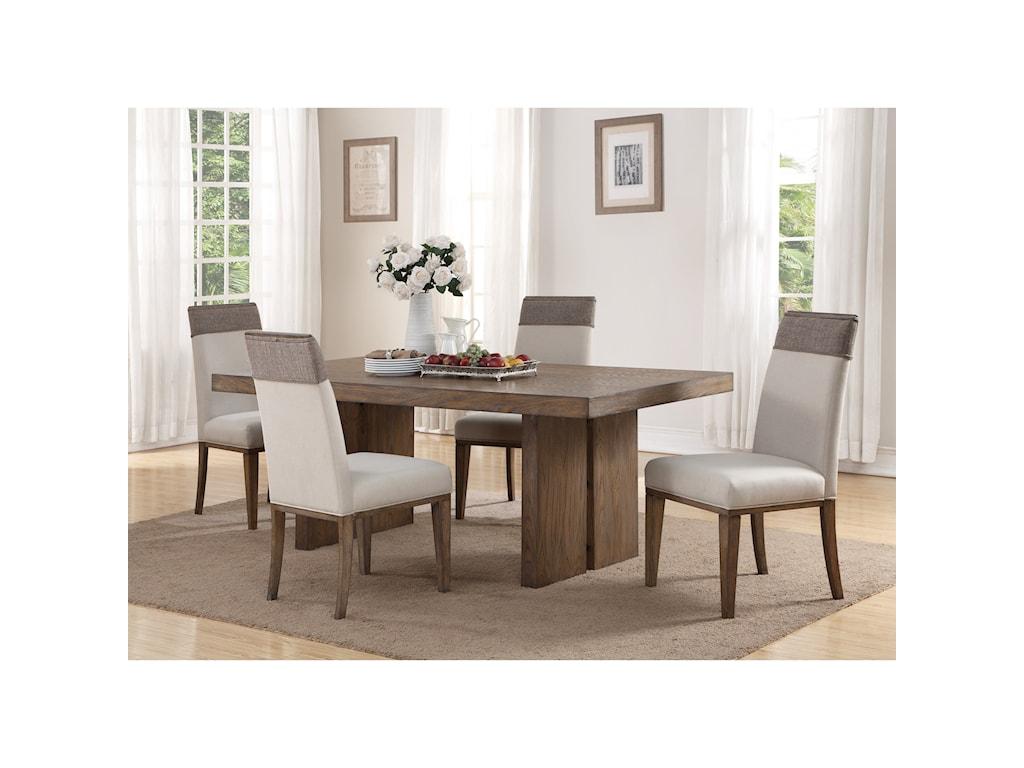 Flexsteel Wynwood Collection Maximus5-Pc Dining Set