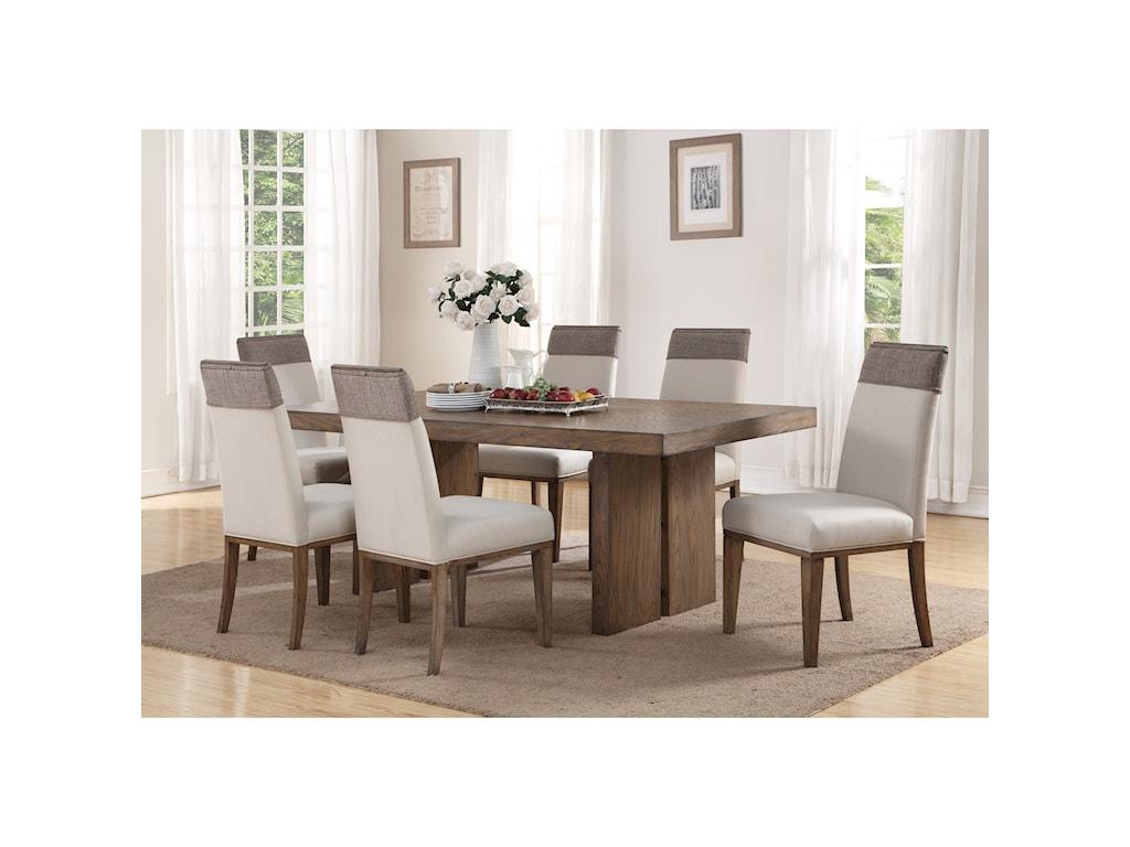 Wynwood, A Flexsteel Company Maximus7 Pc Dining Set
