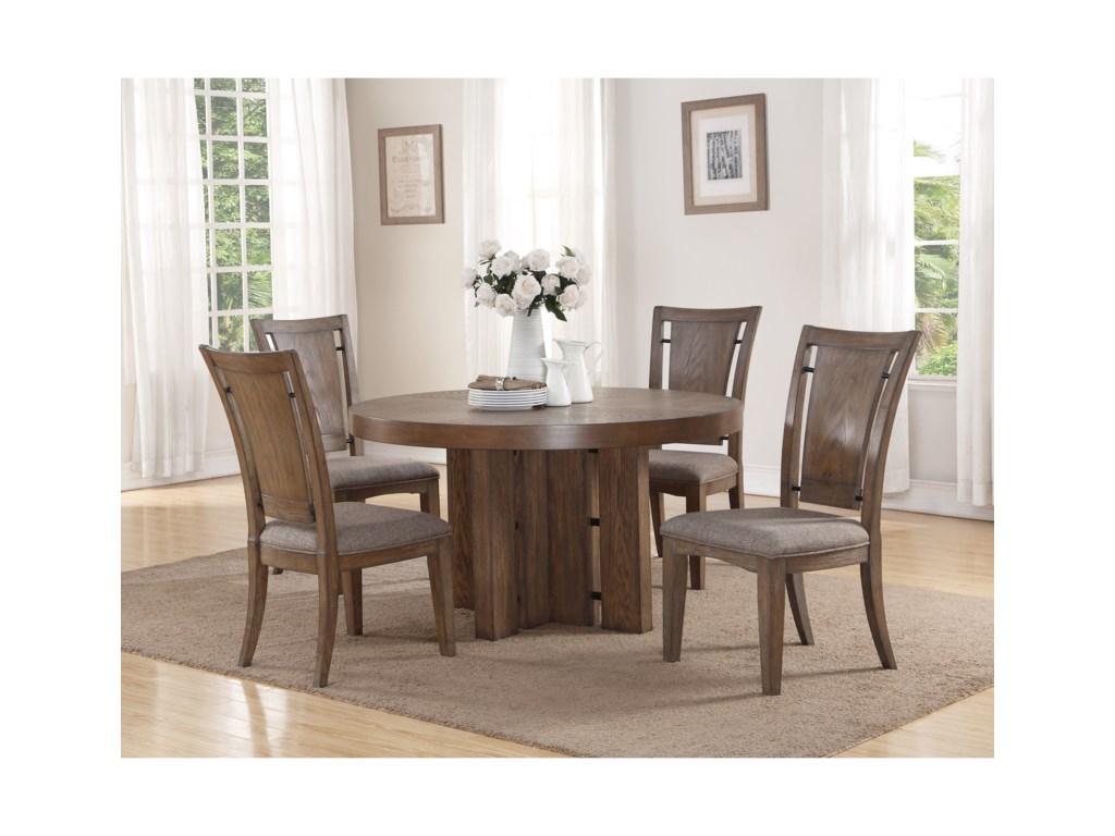 Flexsteel Wynwood Collection Maximus Dining Group5 Pc Dining Set