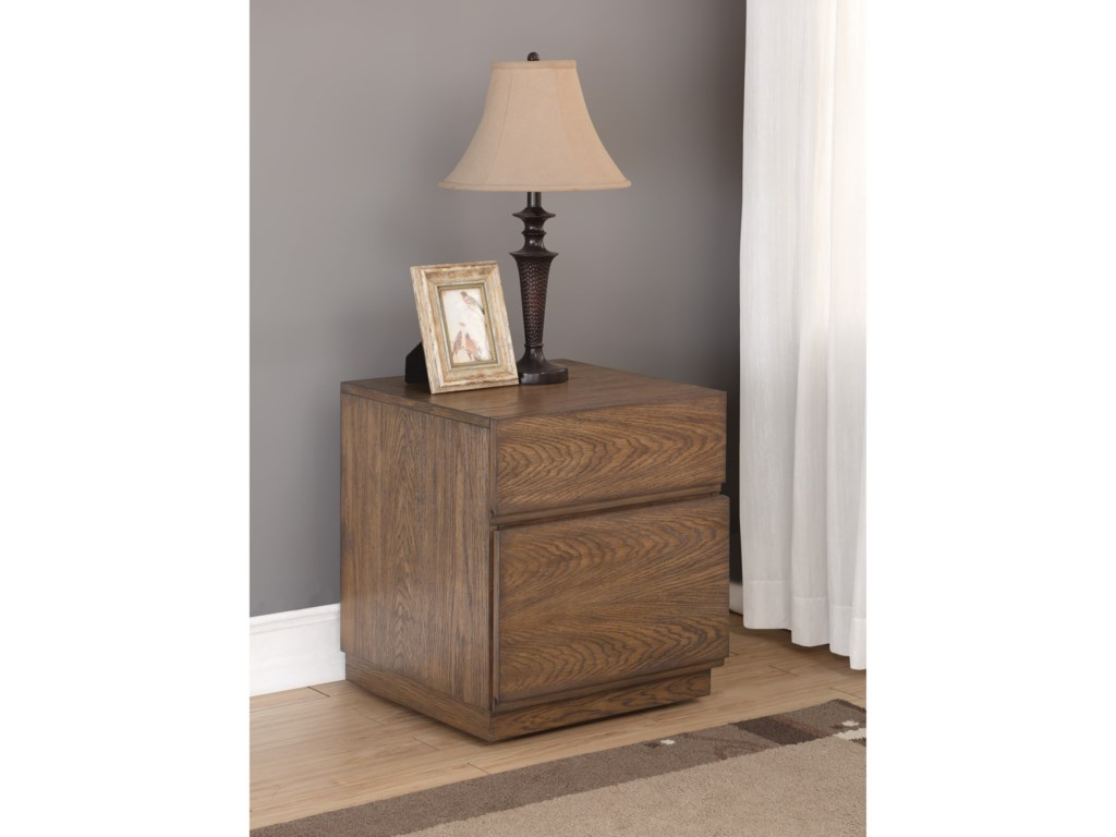 Flexsteel Wynwood Collection MaximusFile Cabinet with Casters