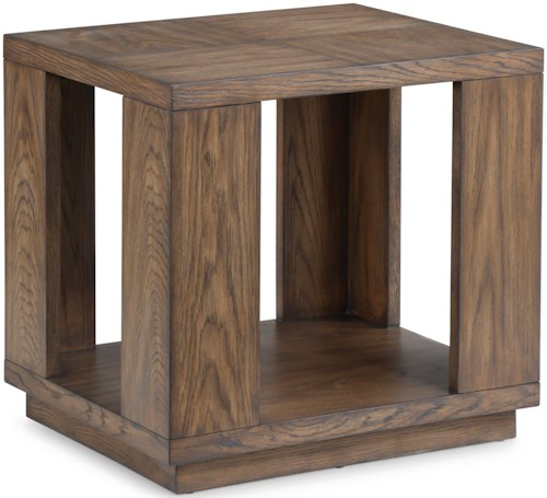 Flexsteel Wynwood Collection Maximus Occasional Group Casual End Table with Open Base