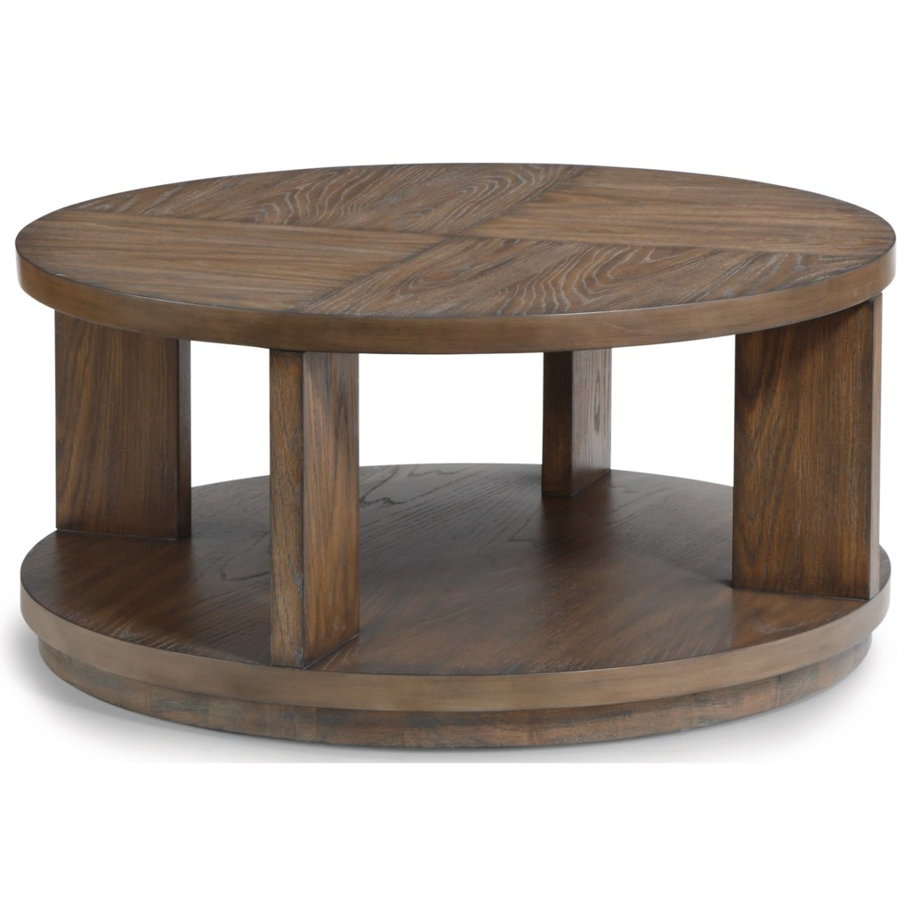 Flexsteel Wynwood Collection Maximus Casual Round Cocktail Table