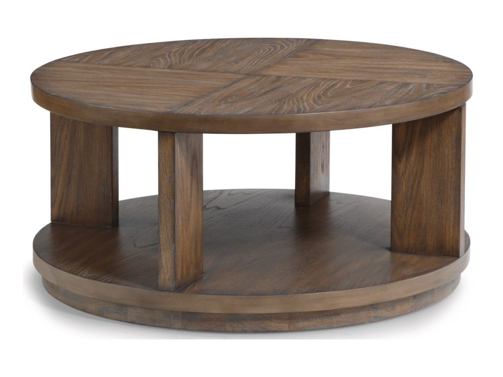 Flexsteel Wynwood Collection MaximusRound Cocktail Table