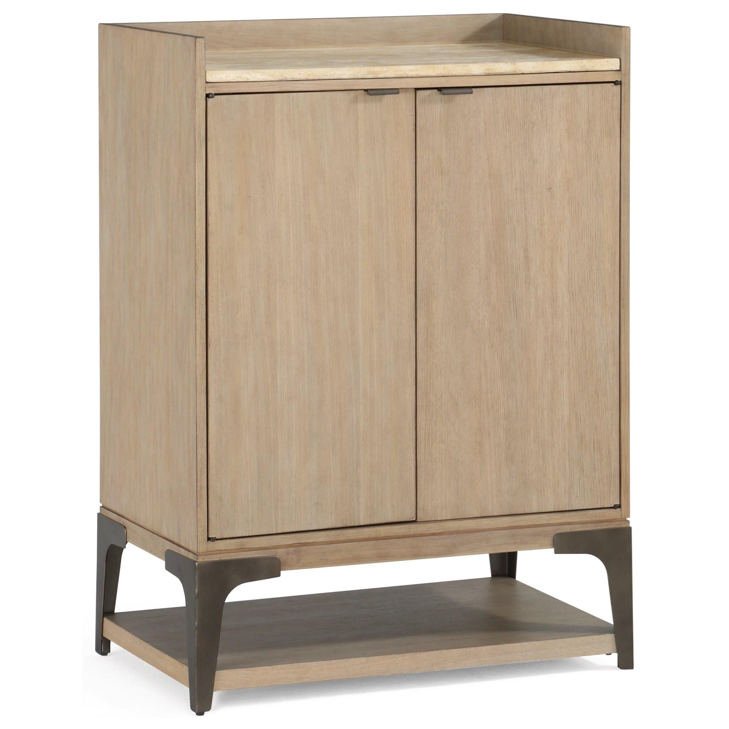 Flexsteel Wynwood Collection Omni Contemporary Bar Cabinet