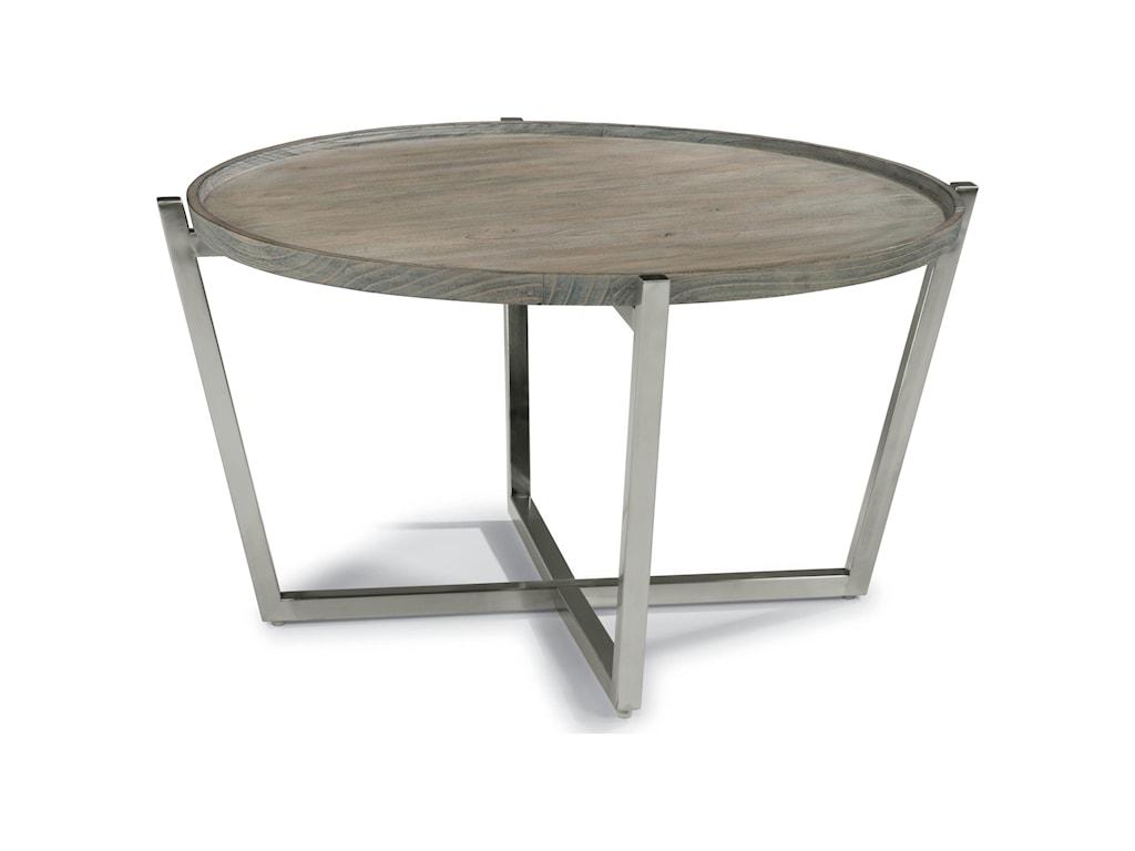 Flexsteel Wynwood Collection PlatformRound Cocktail Table
