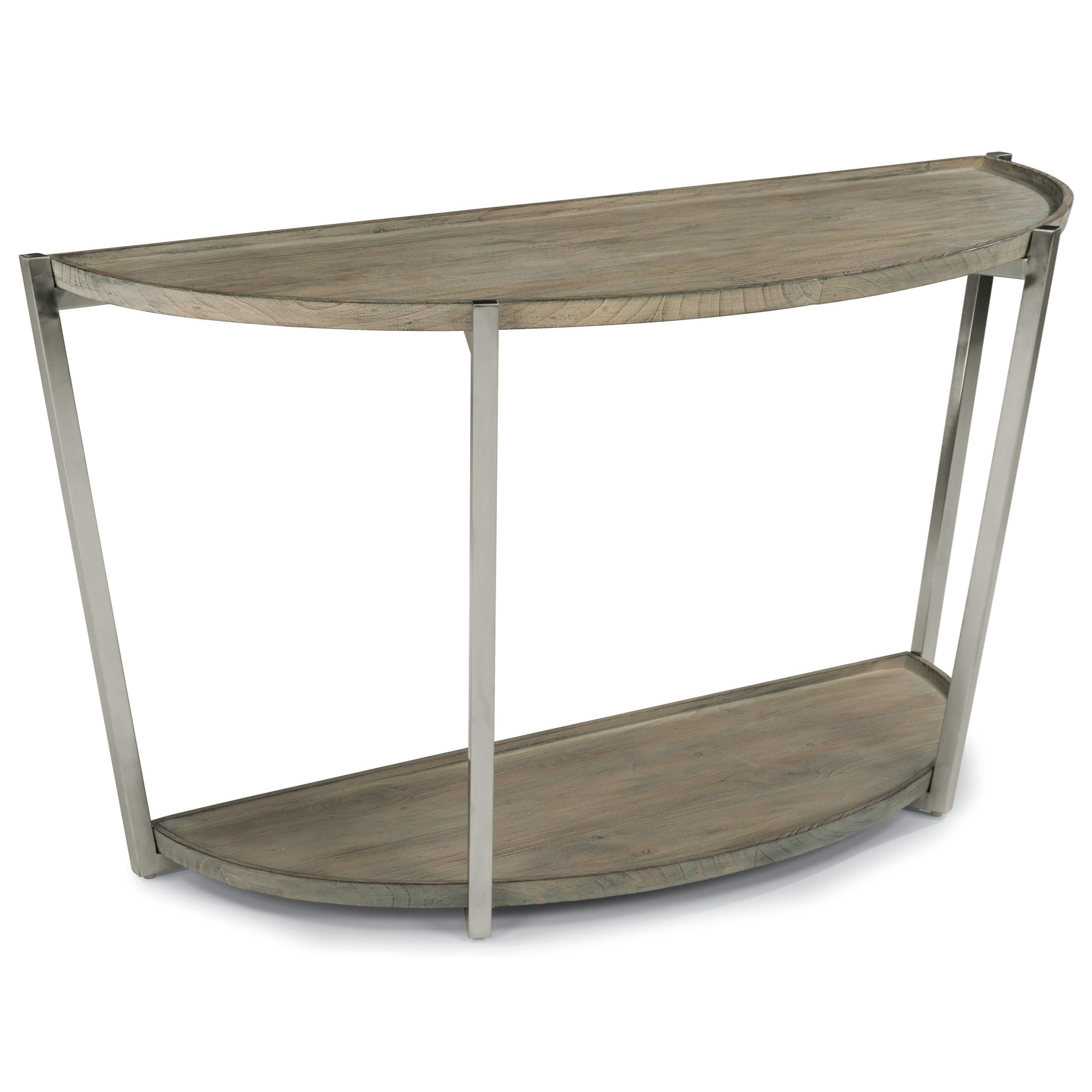 Platform Contemporary Sofa Table With Stainless Steel Base By Flexsteel Wynwood Collection At Olinde S Furniture
