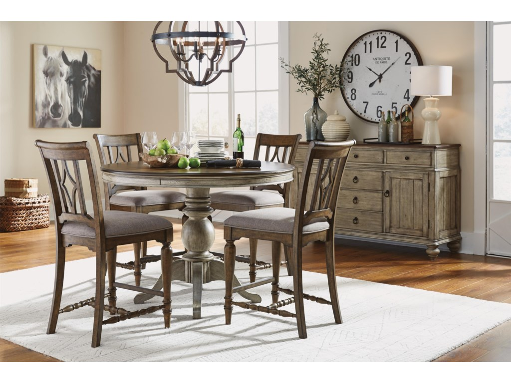 Flexsteel Wynwood Collection Plymouth6 PC Counter Height Table Set