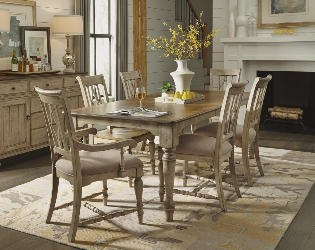 Flexsteel Wynwood Collection Plymouth GRP W1147 TBL6 Cottage Dining