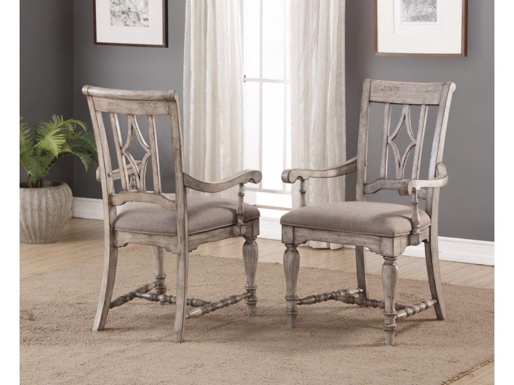 Flexsteel Wynwood Collection PlymouthCottage Dining Leg Table & Chair Set