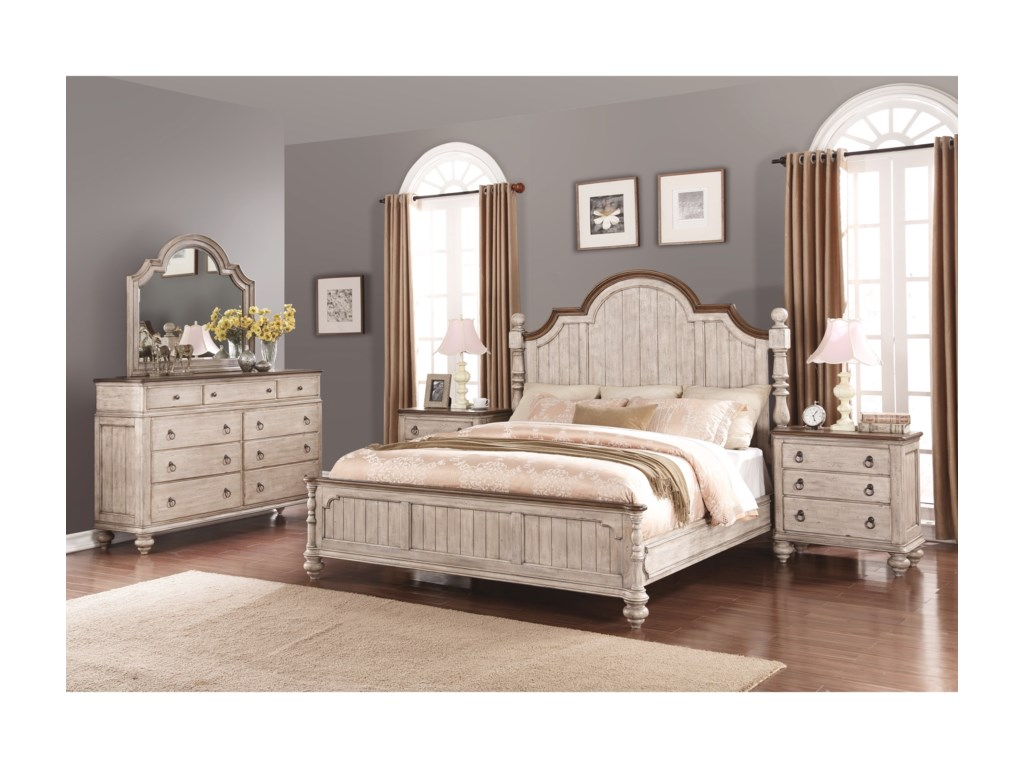 Flexsteel Wynwood Collection PlymouthKing Bedroom Group