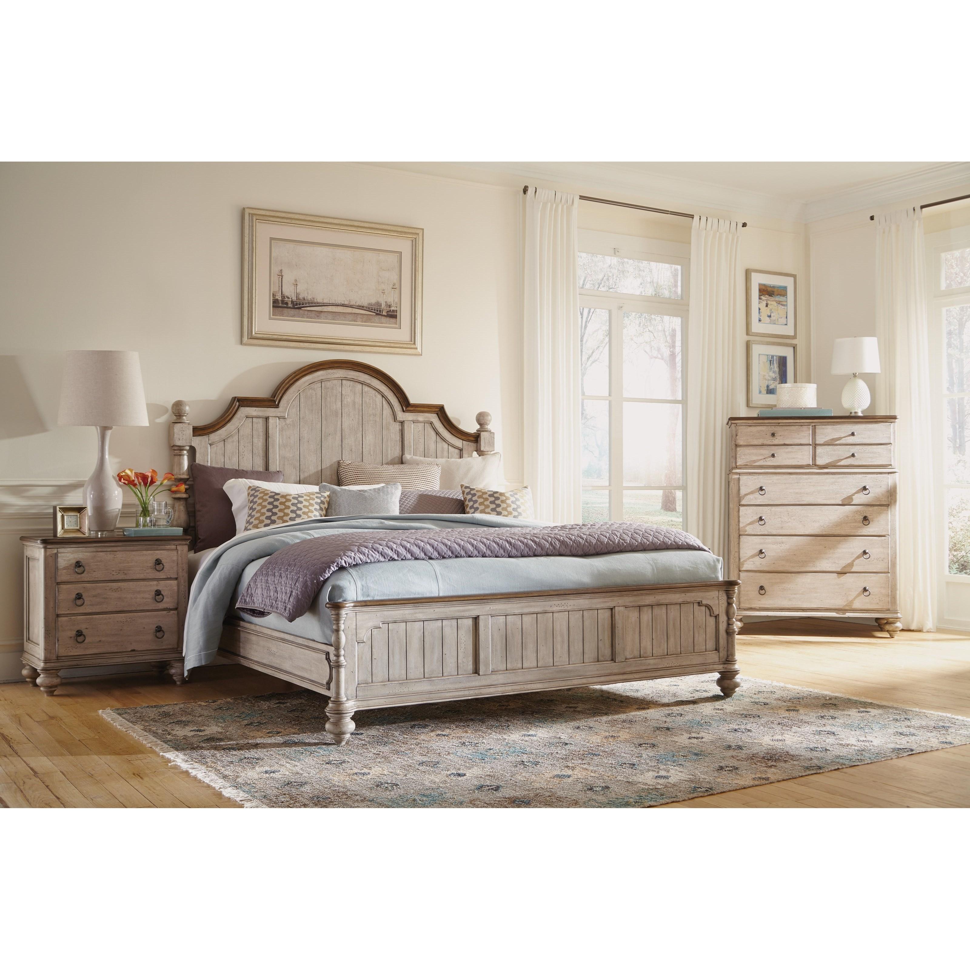 Flexsteel Wynwood Collection Plymouth Queen Bedroom Group