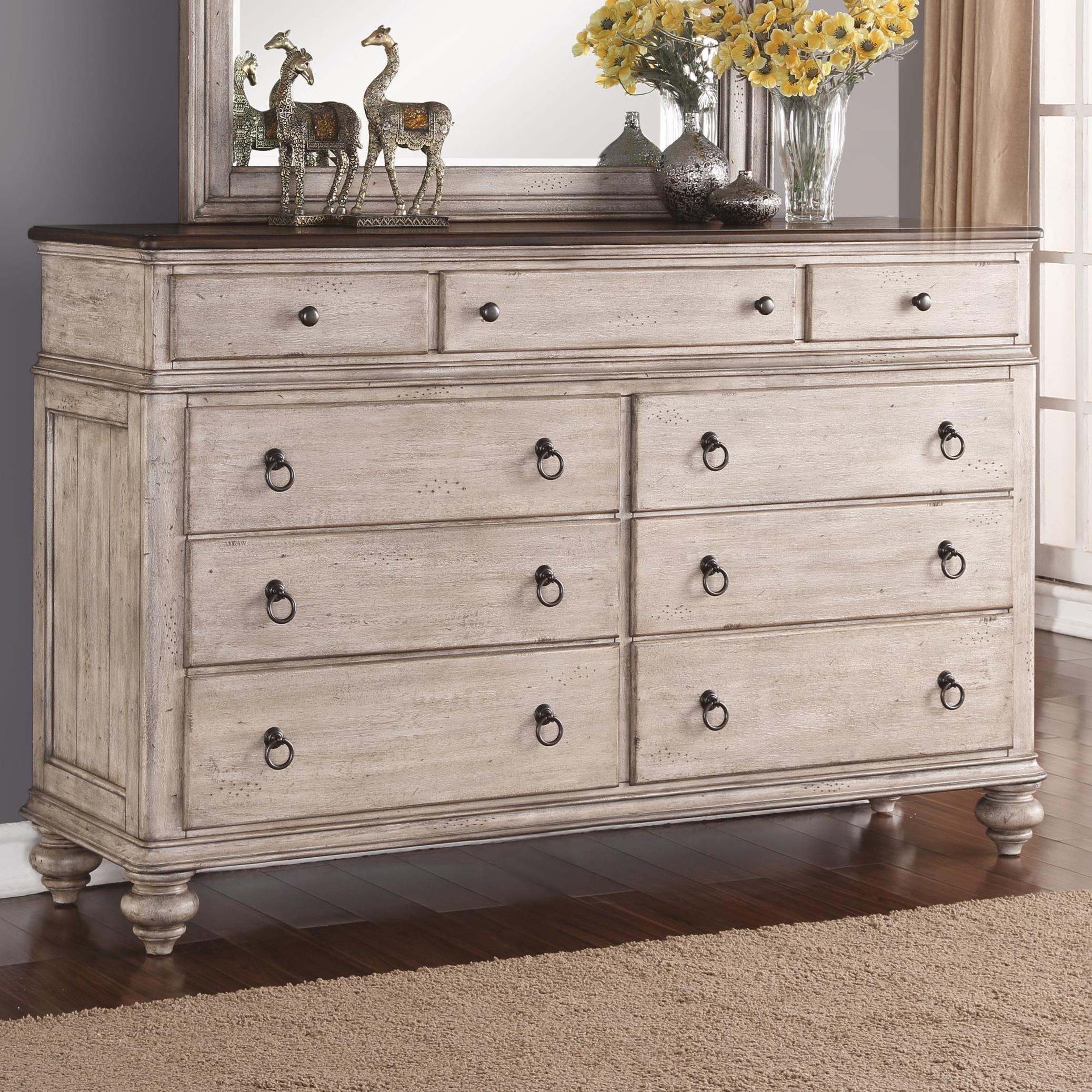 flexsteel wynwood collection plymouth cottage 9drawer dresser with falsebottom drawer john v schultz furniture dressers - Wynwood Furniture