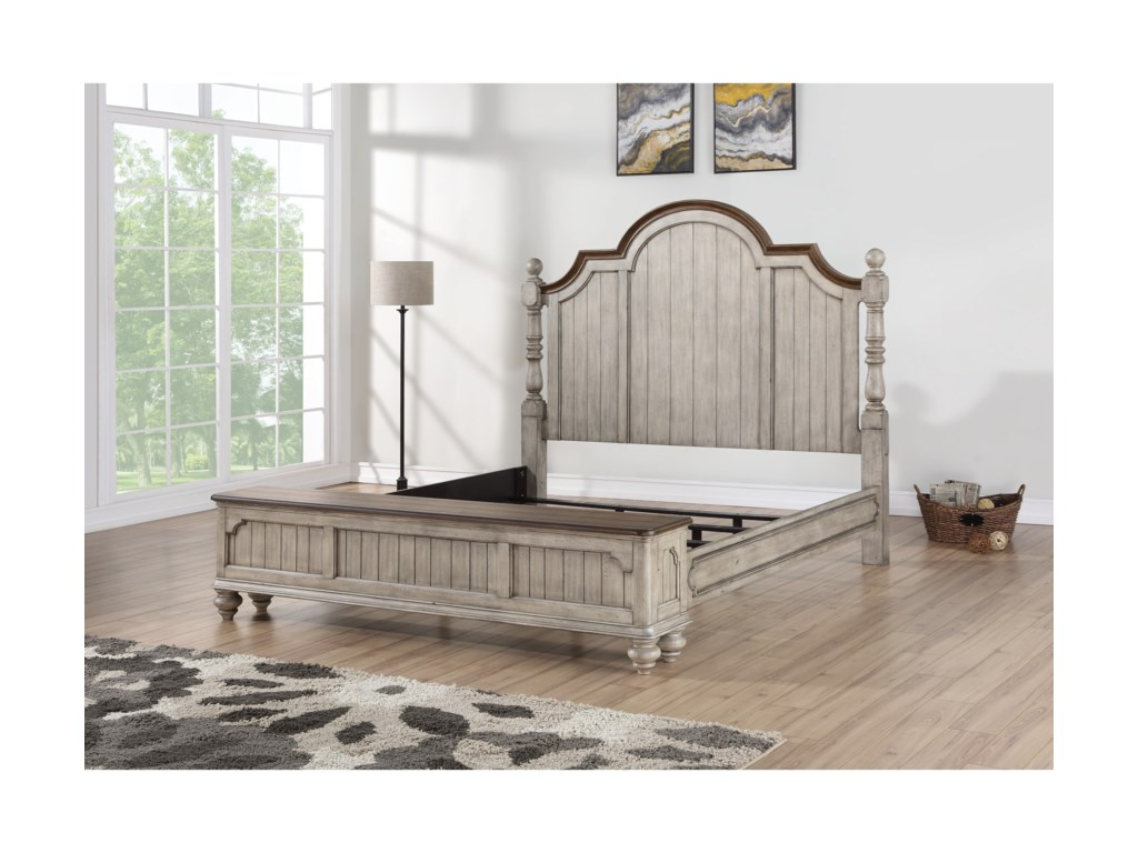 Flexsteel Wynwood Collection PlymouthKing Poster Storage Bed