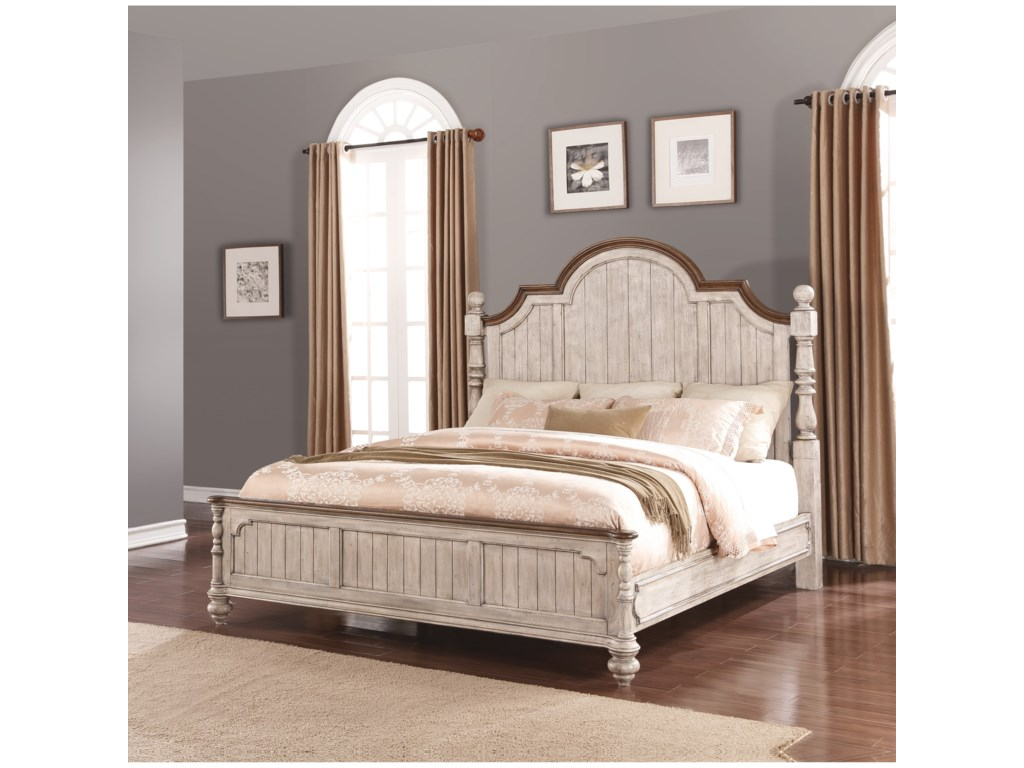 Flexsteel Wynwood Collection PlymouthQueen Poster Bed