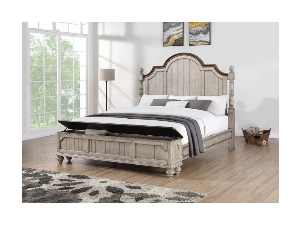 Flexsteel Wynwood Collection PlymouthQueen Poster Storage Bed