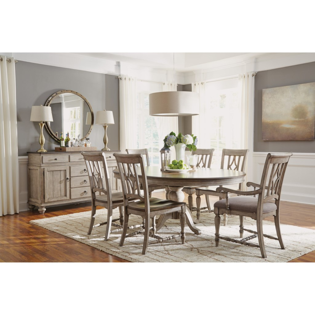 Flexsteel Wynwood Collection Plymouth Cottage Dining Room Group with