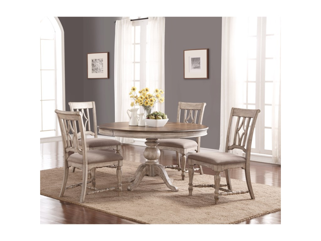 Flexsteel Wynwood Collection PlymouthTable and Chair Set