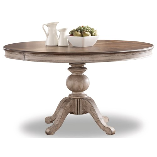 Flexsteel Wynwood Collection Plymouth Pedestal Dining