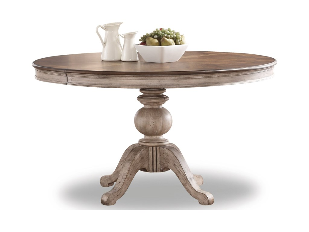 flexsteel wynwood collection plymouth w1147 834 pedestal dining table with leaves john v schultz furniture dining tables - Pedestal Dining Room Table With Leaf