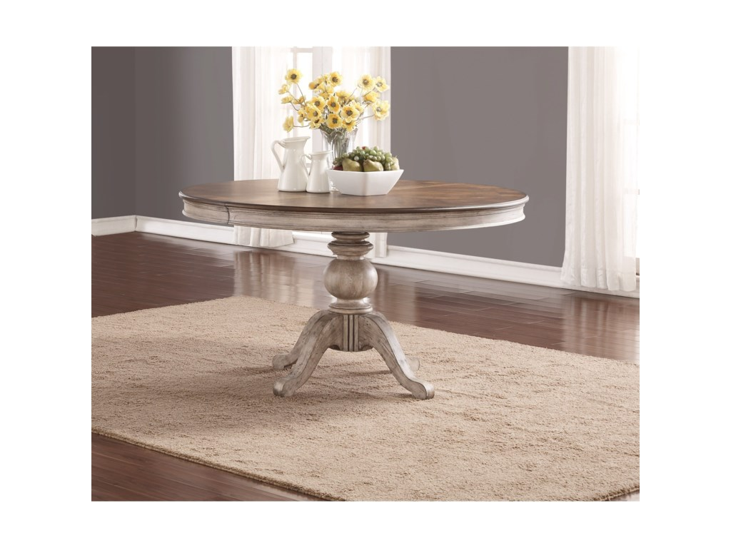 Flexsteel Wynwood Collection PlymouthPedestal Dining Table