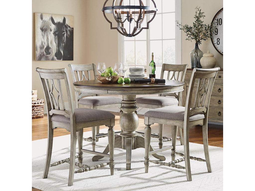 Flexsteel Ventura5-Piece Counter Height Table and Chair Set