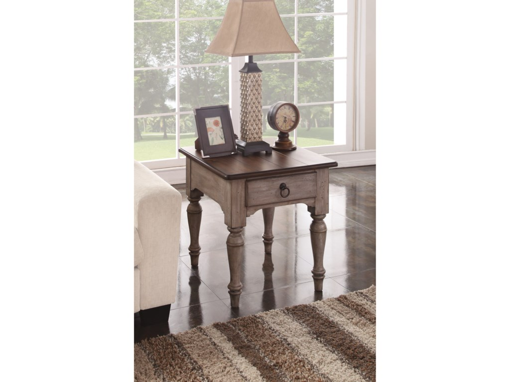 Flexsteel Wynwood Collection PlymouthEnd Table
