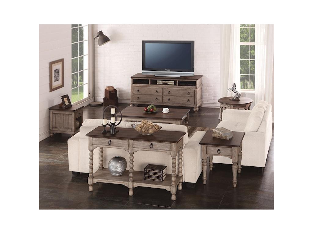 Flexsteel Wynwood Collection PlymouthSofa Table