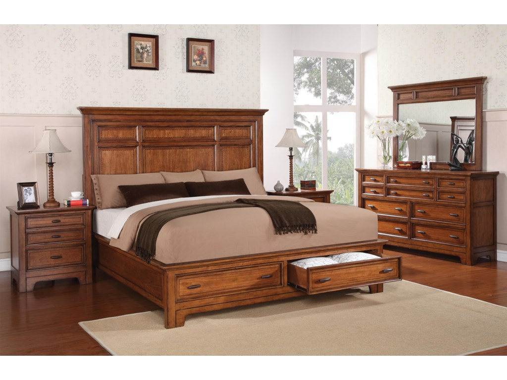 Flexsteel Wynwood Collection River ValleyKing Bedroom Group