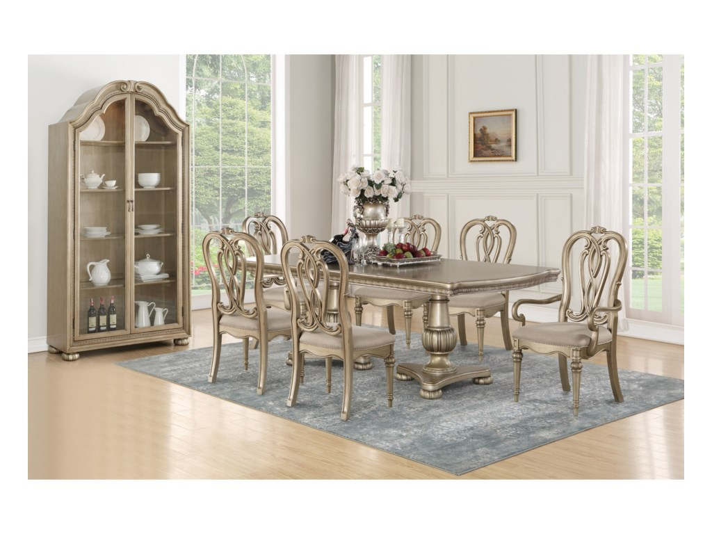 Flexsteel Wynwood Collection San Cristobal Formal Dining Group