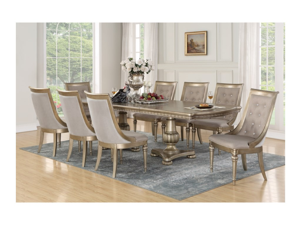 Flexsteel Wynwood Collection San Cristobal 9 Piece Dining Set