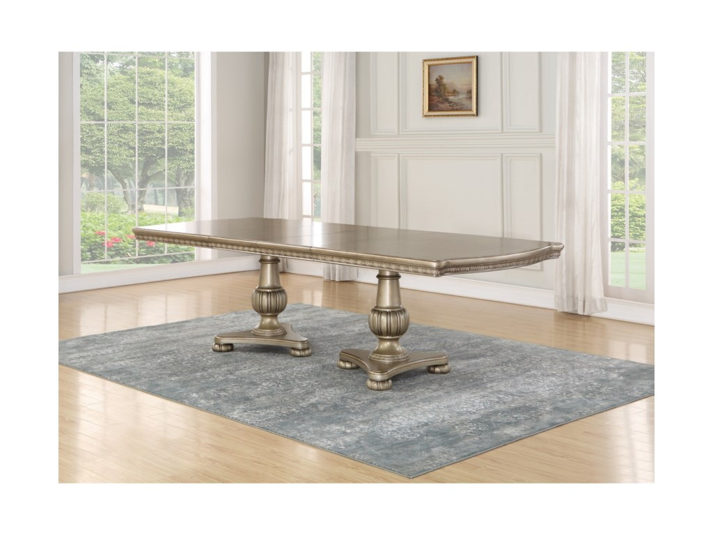 Flexsteel Wynwood Collection San Cristobal Pedestal Dining Table