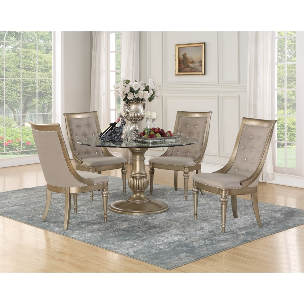 City Furniture Dining Room Sets Glass Top Round