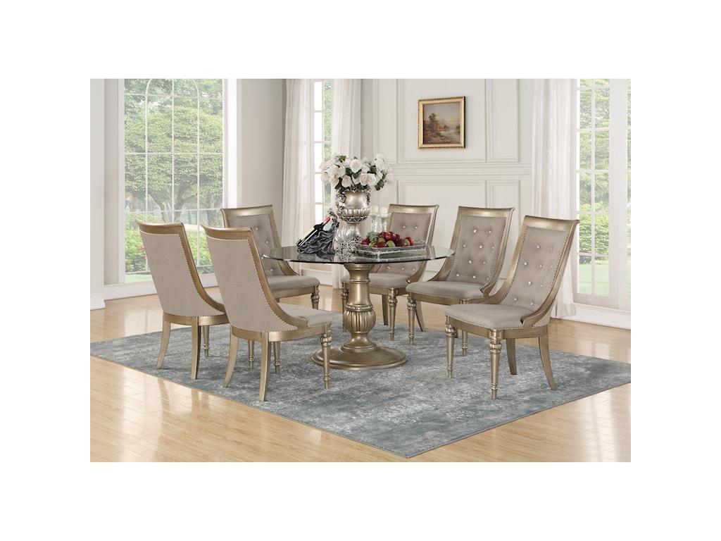 Flexsteel Wynwood Collection San Cristobal Pedestal Dining Table